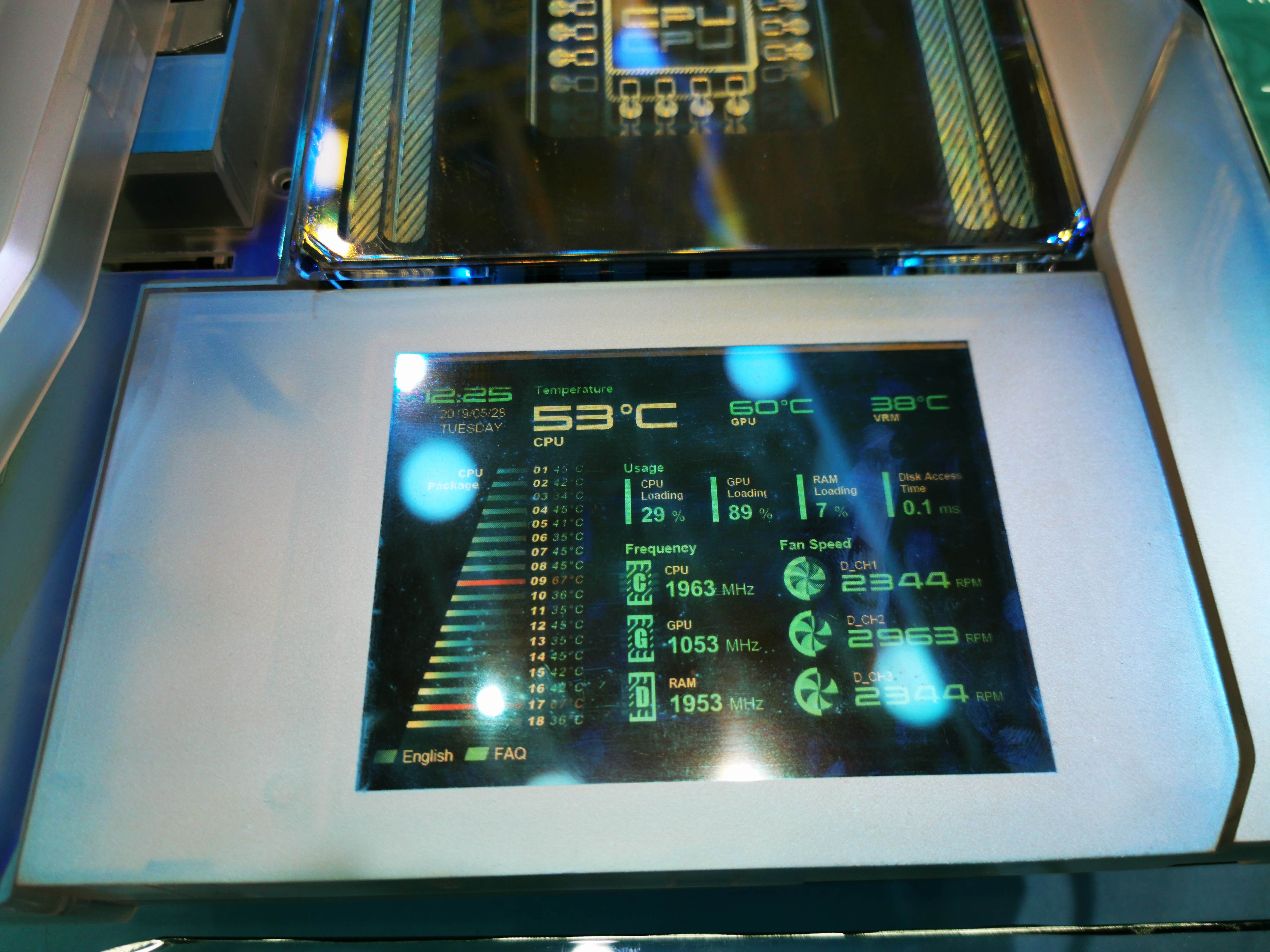 ASUS Prime Utopia Motherboard Tech Demo, with 7-inch OLED