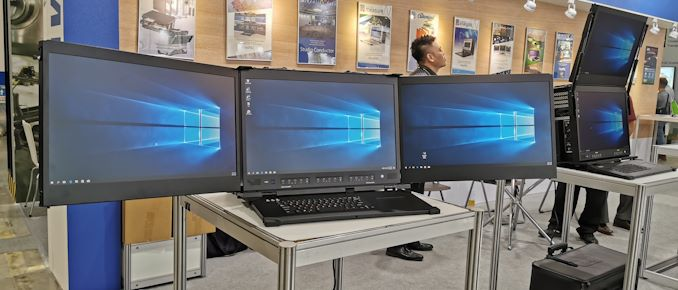 Spotted at Computex: Triple Monitor Mobile Systems are Back