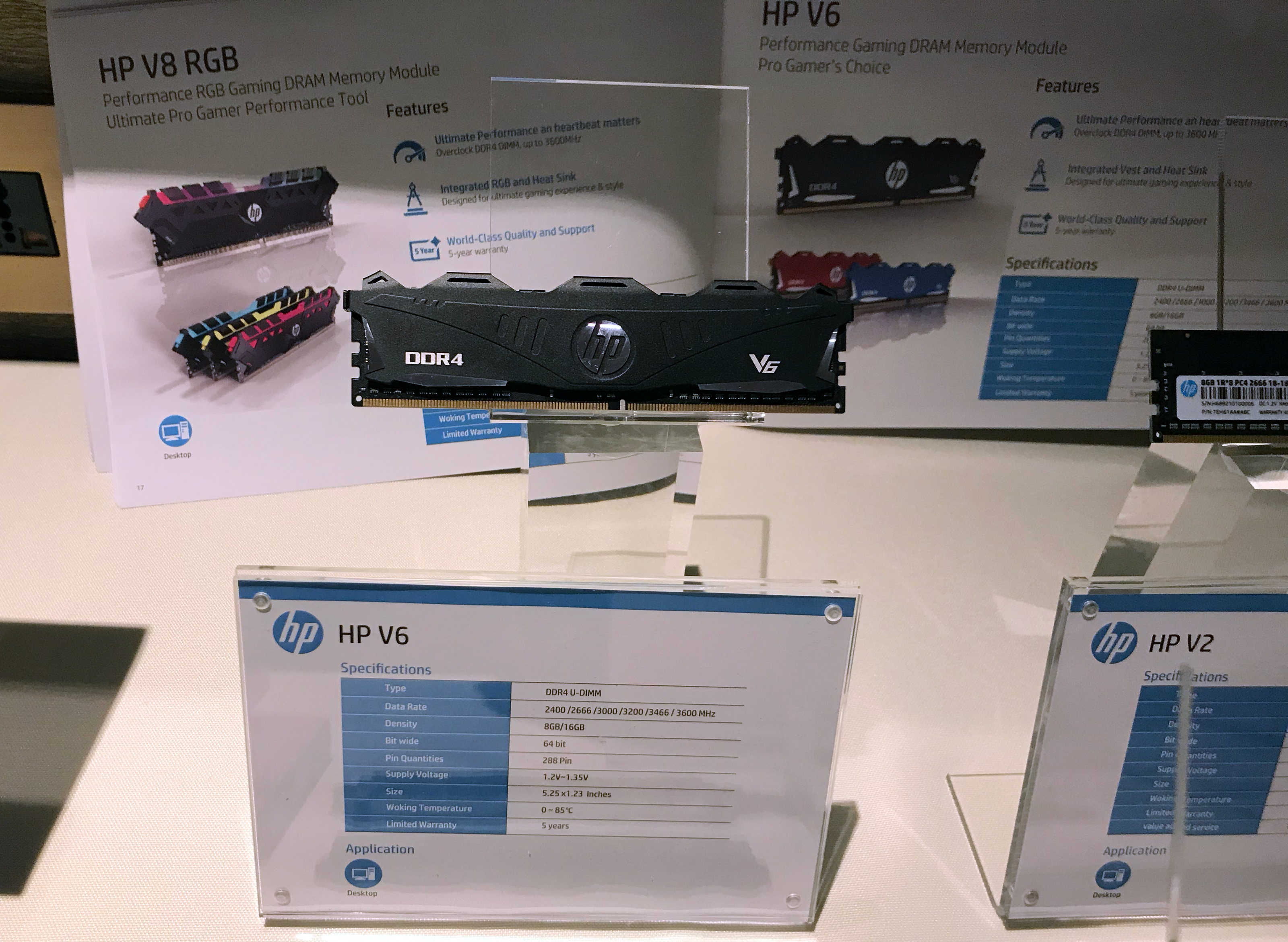 Spotted at Computex: HP's own DDR4 Modules? V2, V6 and V8