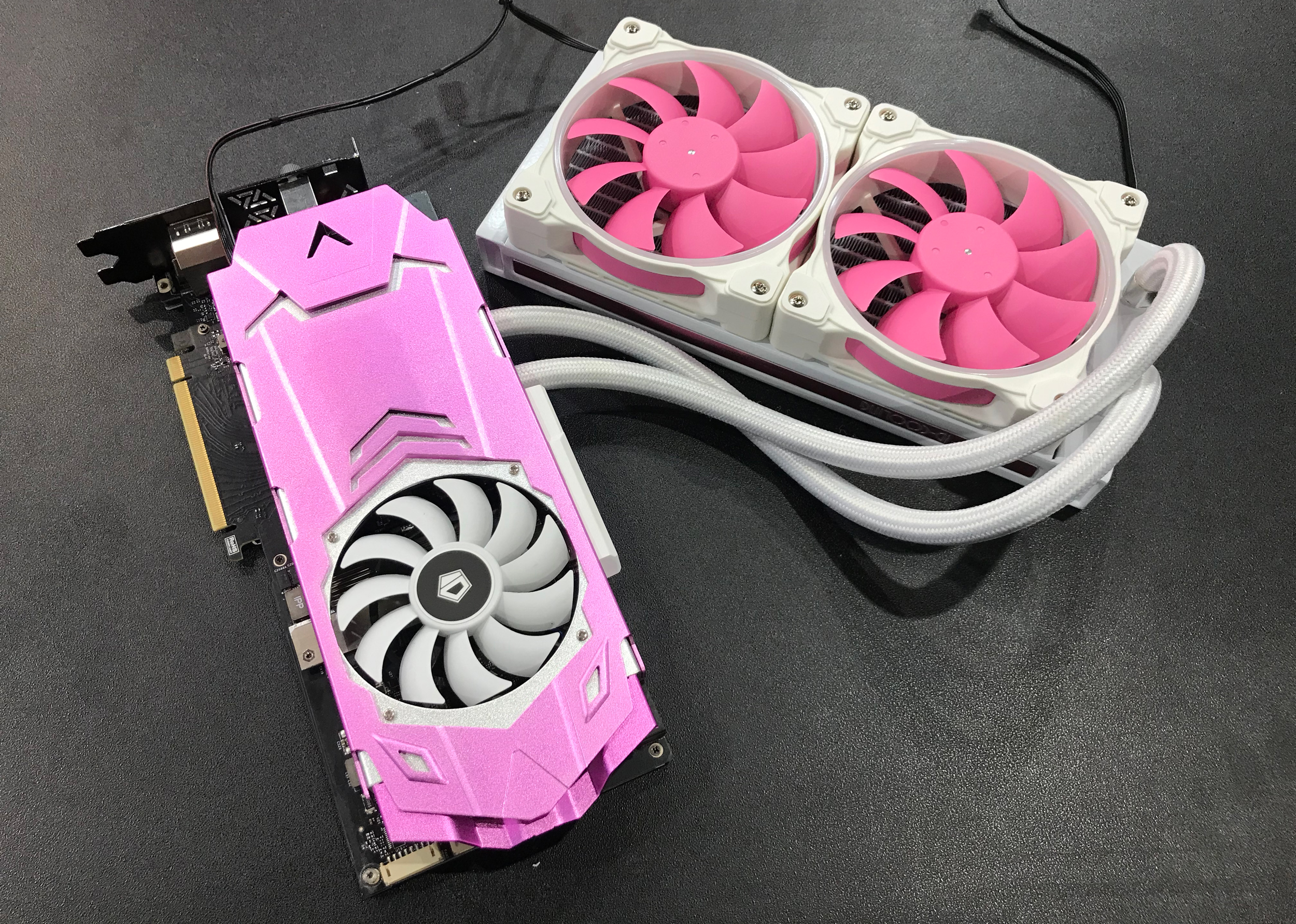 Spotted at Computex: A White and Pink AIO LCS from ID Cooling