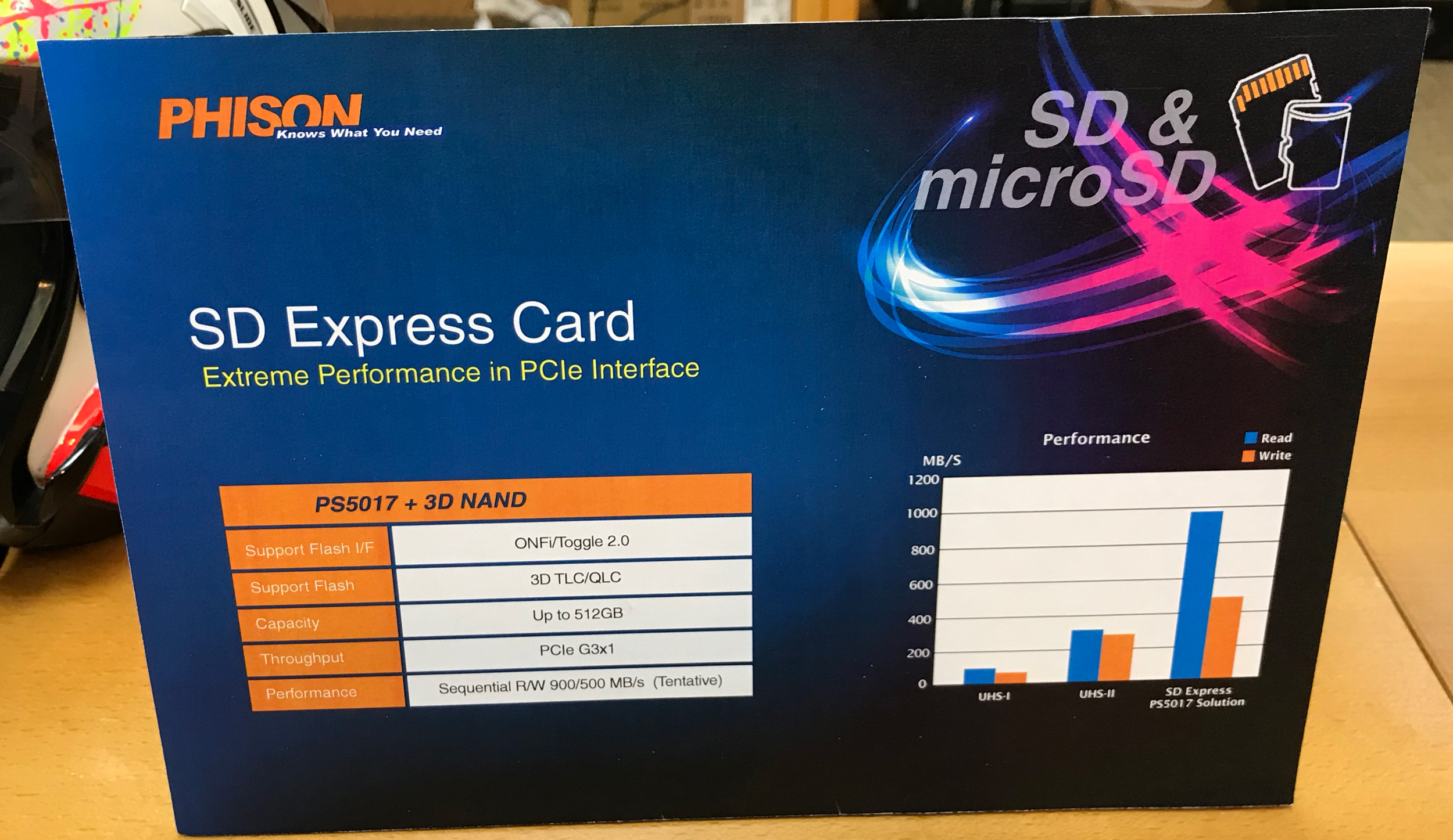 Phison Develops PS5017 Controller for SD Express & MicroSD