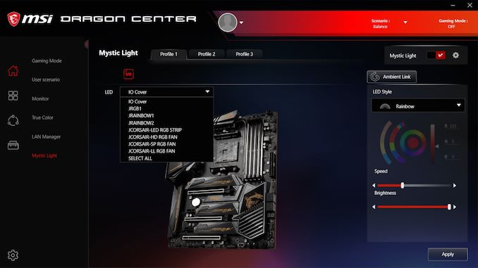 BIOS And Software - The MSI MEG X570 Ace Motherboard Review: Ace in