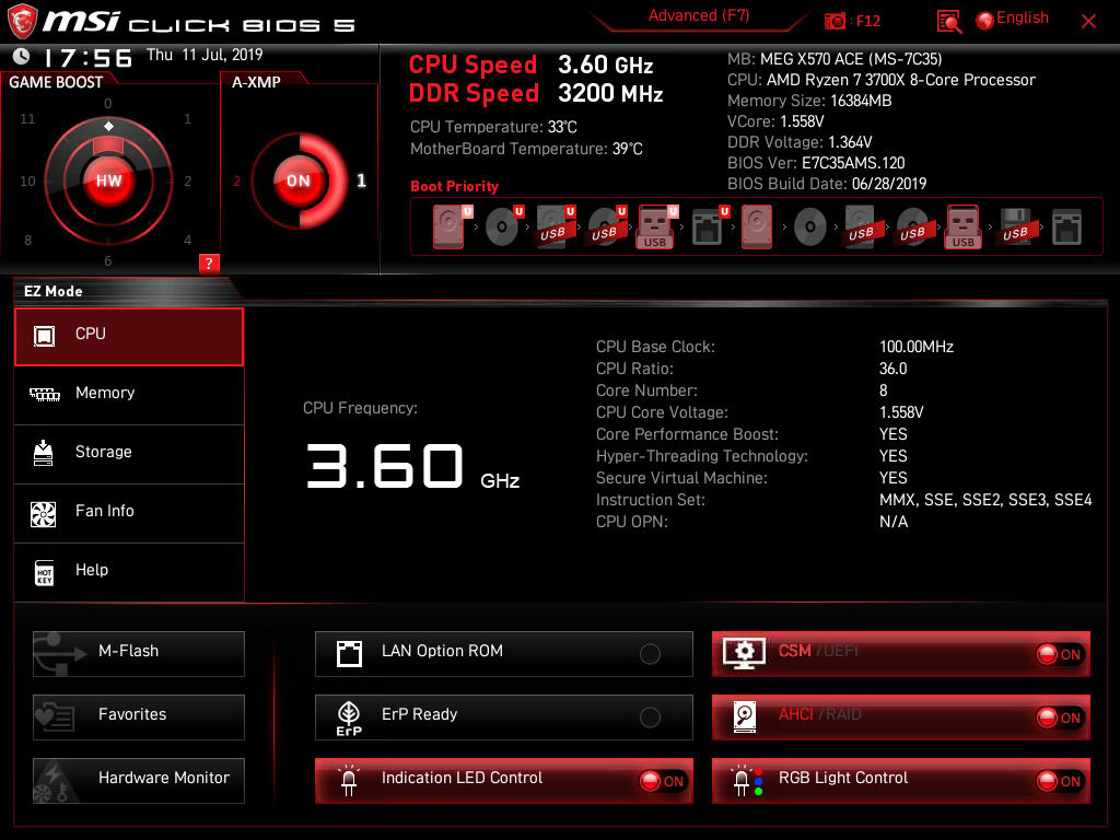 huge sale a few days away pretty cool BIOS And Software - The MSI MEG X570 Ace Motherboard Review ...