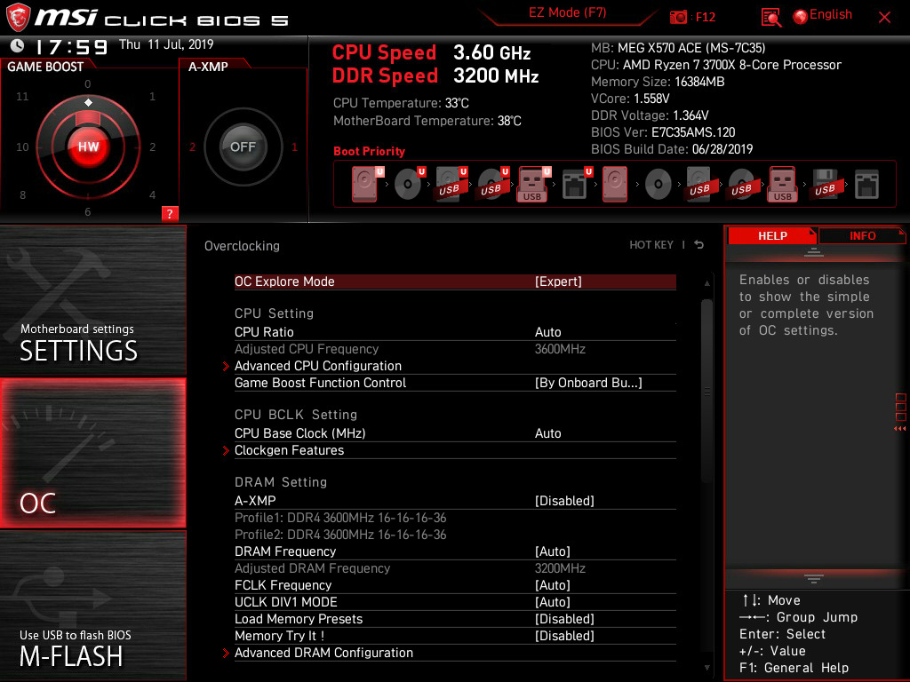Ryzen 3000 Overclocking - The MSI MEG X570 Ace Motherboard Review
