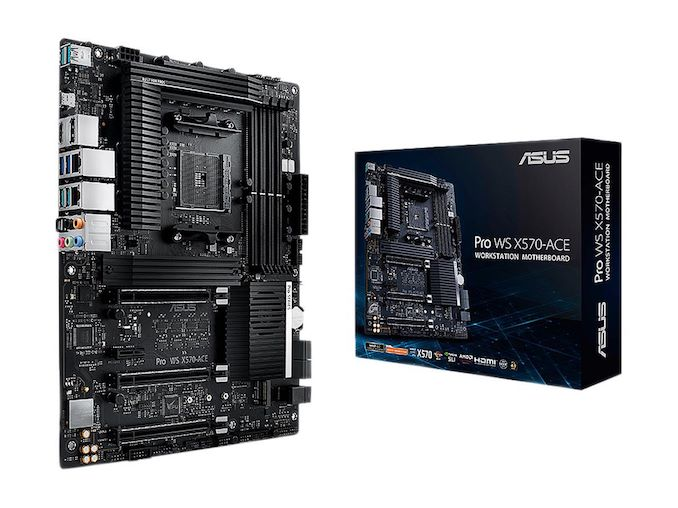 The ASUS Pro WS X570-Ace Review: x8x8x8 with No RGB
