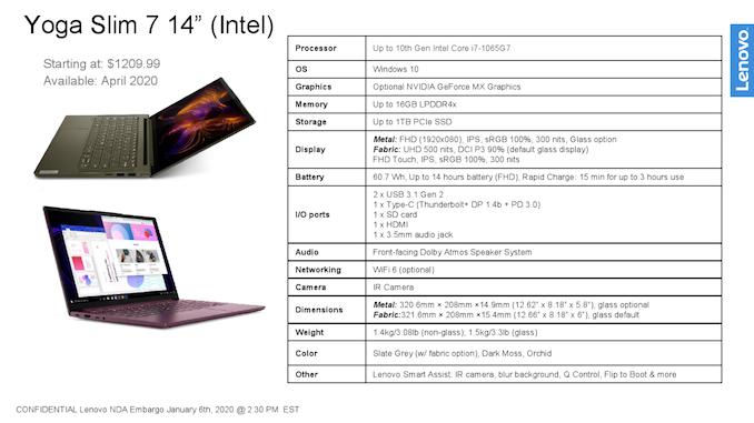 لينوفو تطلق Yoga Slim 7 بحجم 14 بوصة مع بحيرة ثلجية ووحدة معالجة رسومات منفصلة 2