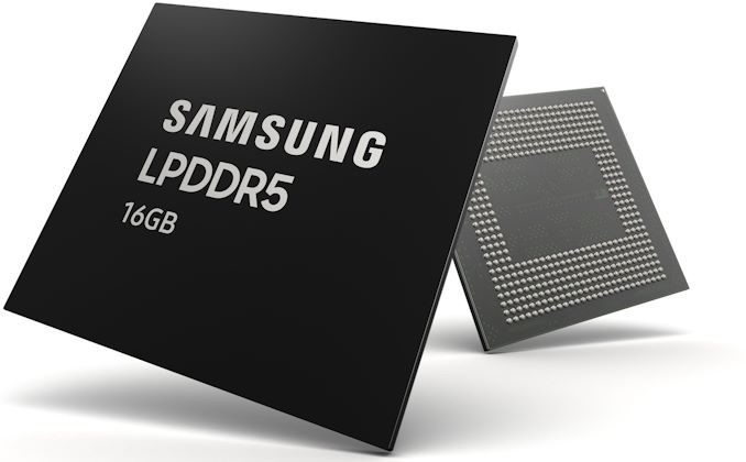 Samsung Starts Production of 16 GB LPDDR5-5500 for Smartphones