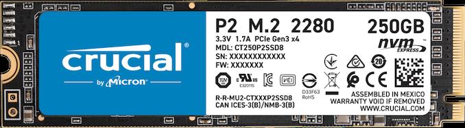 تعلن Crucial عن محركات الأقراص P5 و P2 NVMe SSD: الذهاب إلى المنزل من أجل المستوى الراقي 1