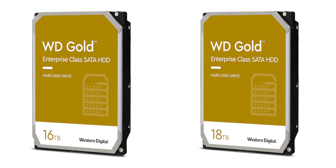 Western Digital's 16TB and 18TB Gold Drives: EAMR HDDs Enter the Retail Channel