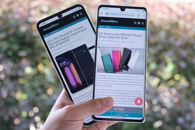 The LG V60 and VELVET Review: A Classic & A Design Restart - AnandTech