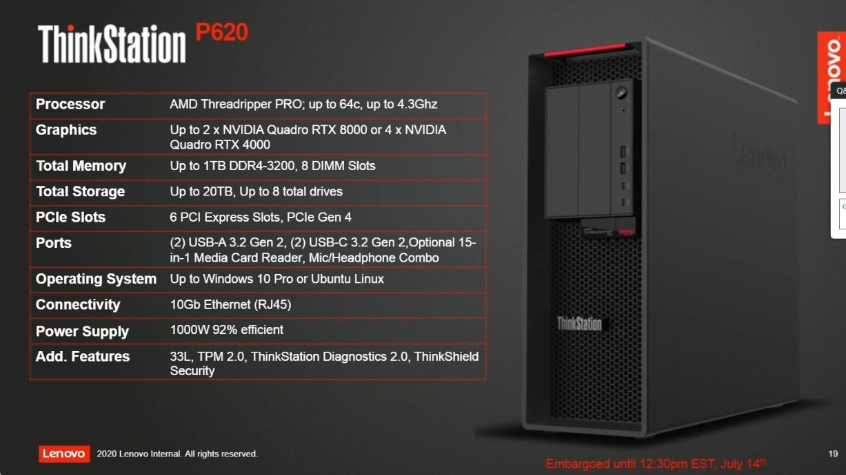Amd Announces Ryzen Threadripper Pro Workstation Parts For Oems Only