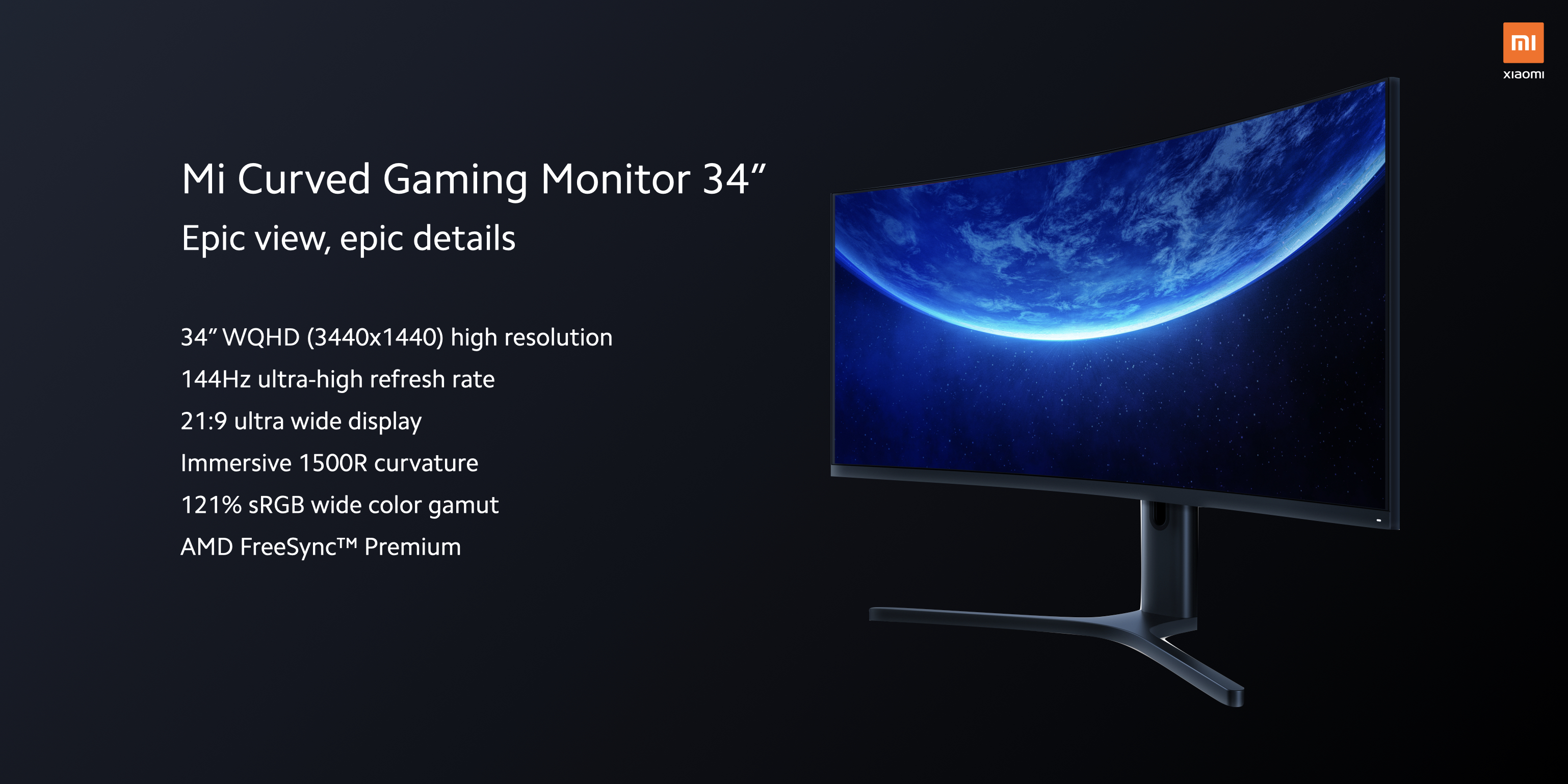 "Xiaomi Releases 8"" WQHD 8Hz Curved Gaming Monitor for 8€"