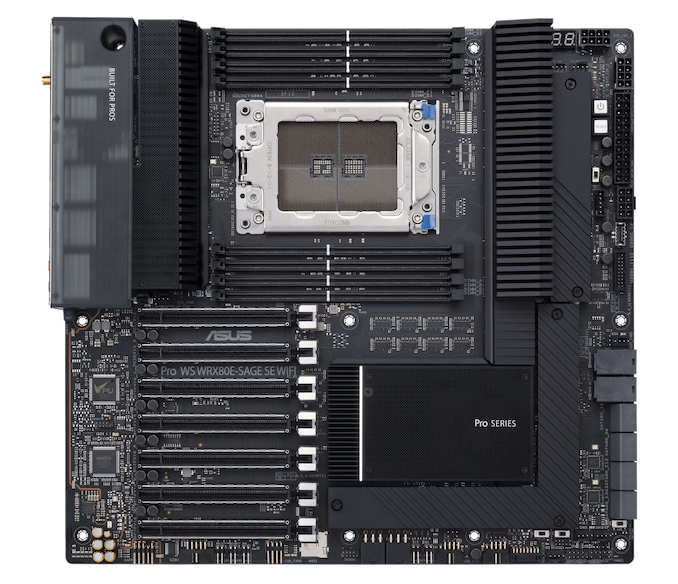 ASUS Pro WS WRX80E-SAGE SE WIFI Announced: A Motherboard for AMD Threadripper Pro