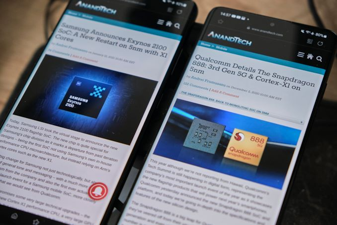 The Snapdragon 888 vs The Exynos 2100: Cortex-X1 & 5nm - Who Does It Better?