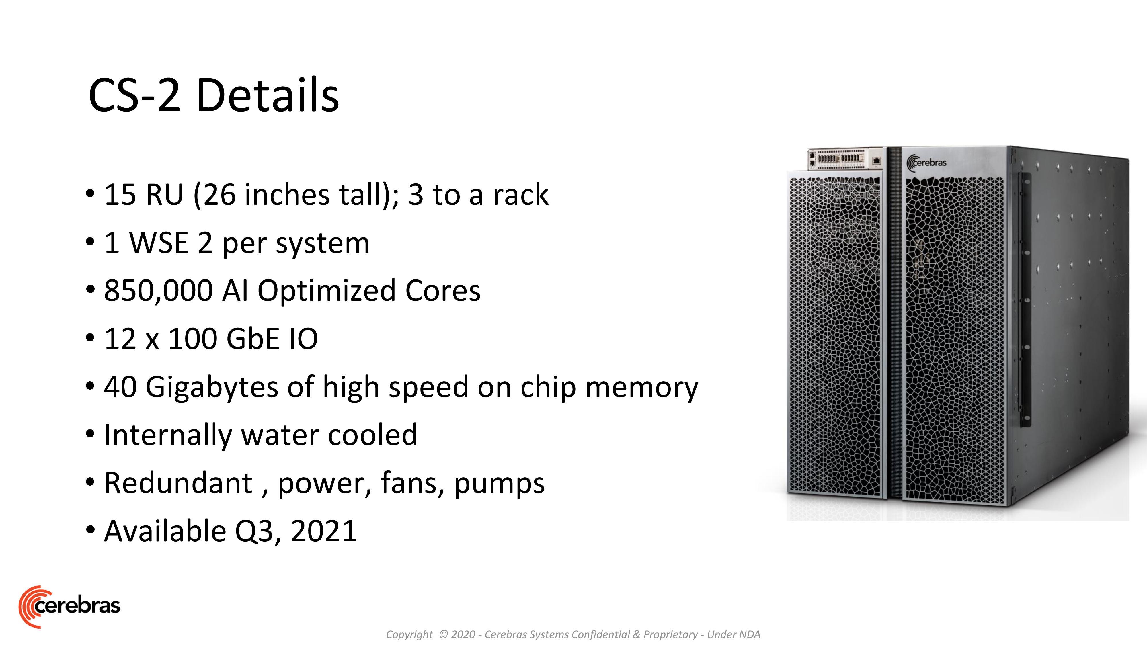 Cerebras Unveils Wafer Scale Engine Two (WSE2): 2.6 Trillion Transistors,  100% Yield
