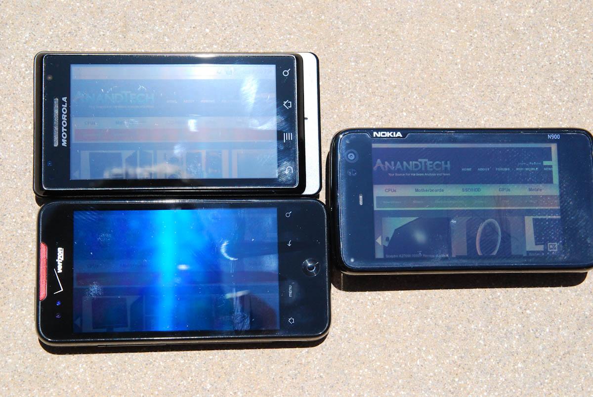 Display Comparison N900 Motorola Droid Droid Incredible Two