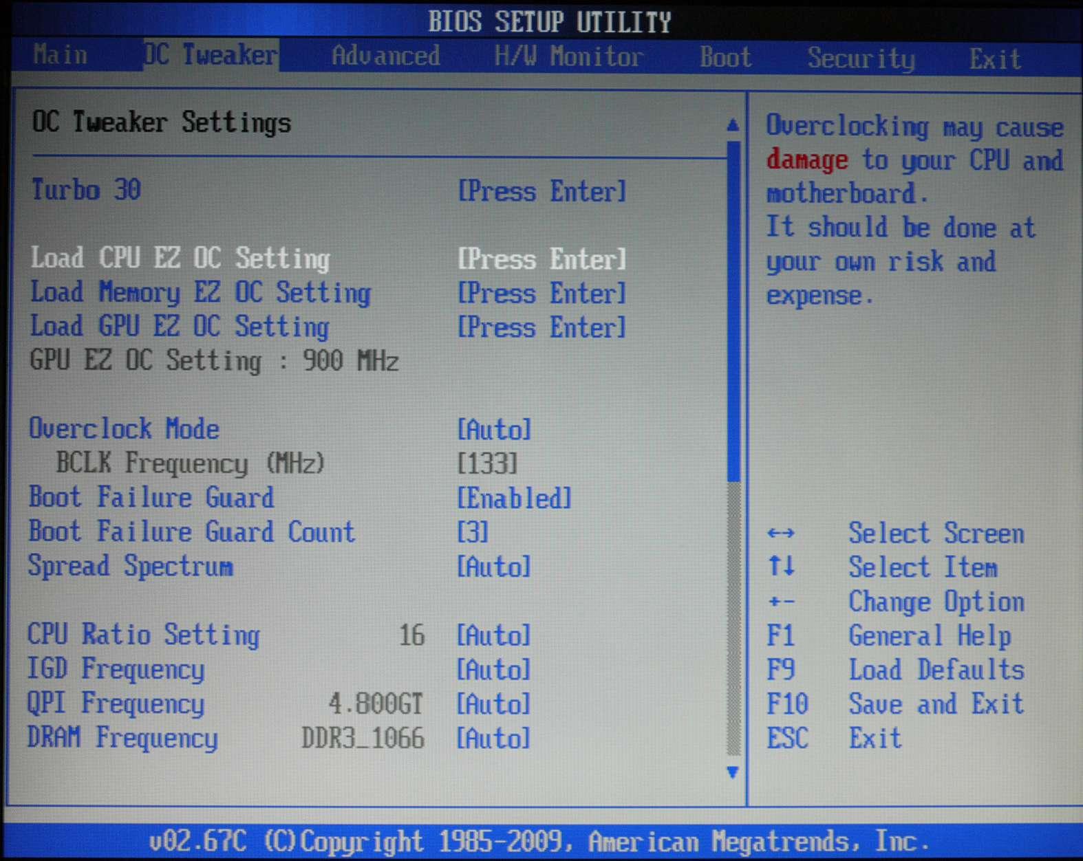 The BIOS - ASRock Core 100HT-BD : Bringing HTPCs to the Mainstream
