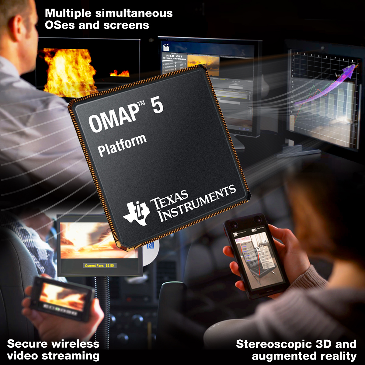 Ti Reveals Omap 5 The First Arm Cortex A15 Soc Omap4 Block Diagram Supports Up To Four Cameras One Demo I Saw Intel Put Together A While Ago Was Of Smartphone With Two Equal Resolution Quality On Its