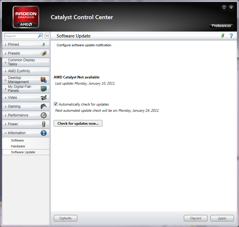 New Catalyst Control Center Features The Test Amd S Radeon Hd 6990 The New Single Card King