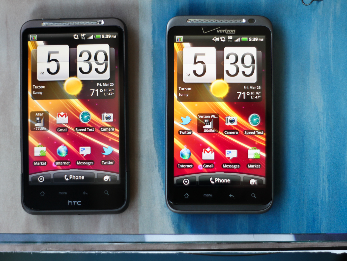 ... HTC Desire HD (and its AT&T variant, the Inspire 4G, which I picked up  for personal use). Side by side, it's obvious that these two share a ton of  ...