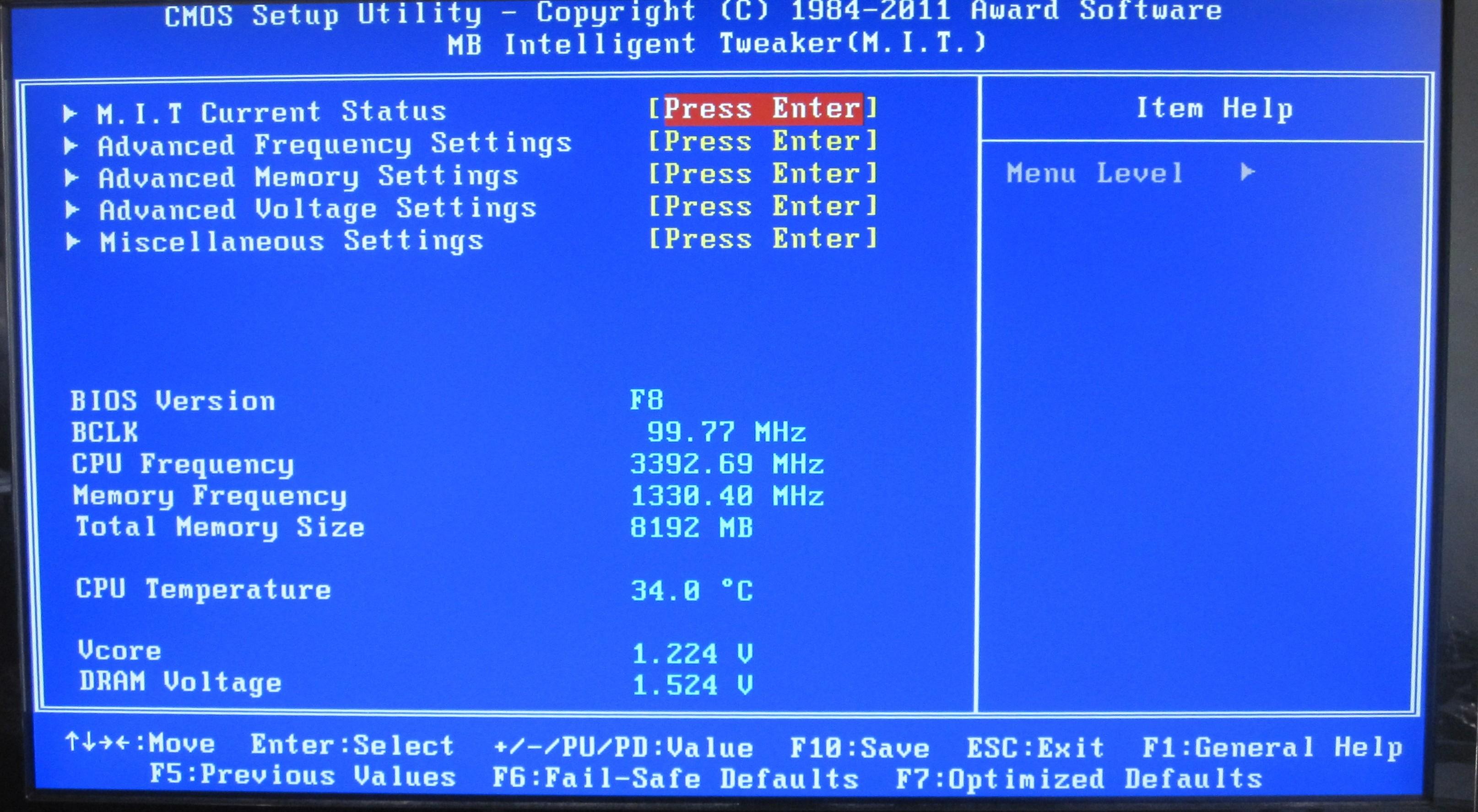 Gigabyte H67MA-UD2H: BIOS, Overclocking - H67 – A