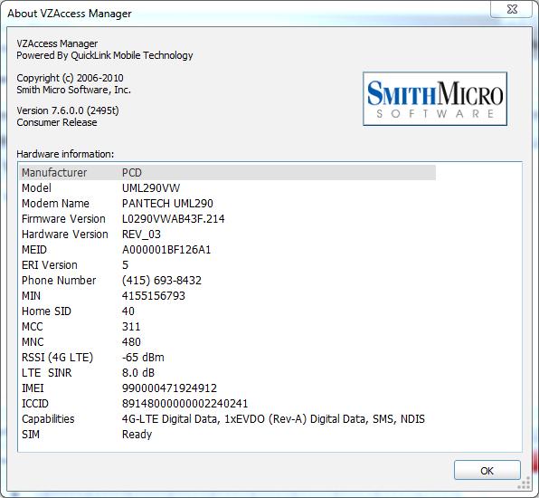 pantech uml290 driver windows 8.1
