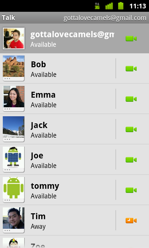 Google Talk and text app - HTC EVO 4G | Android Forums