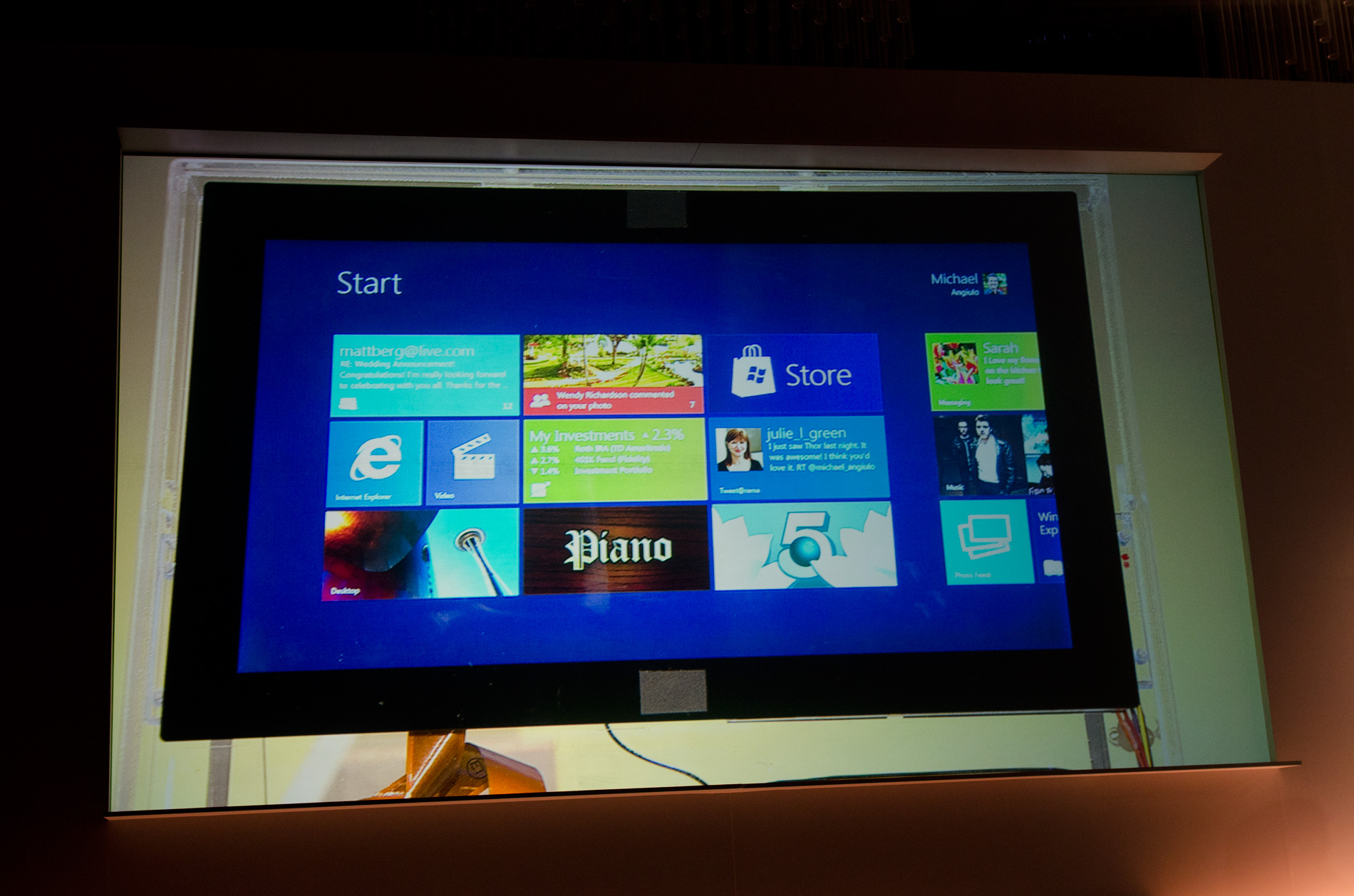 This is the windows 8 tablet pc interface for Windows for pc