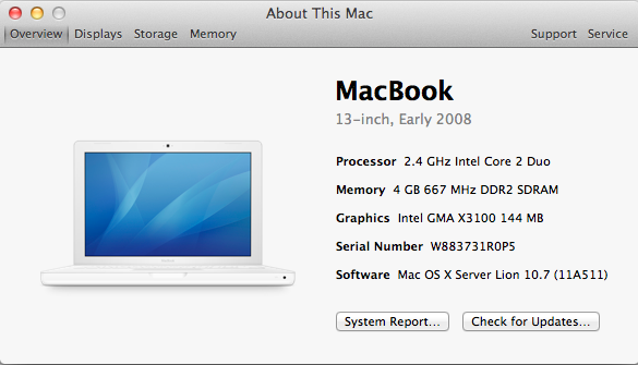 mac os x server serial number lookup