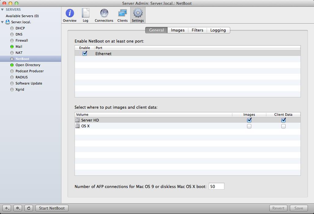 Netboot mac os x client