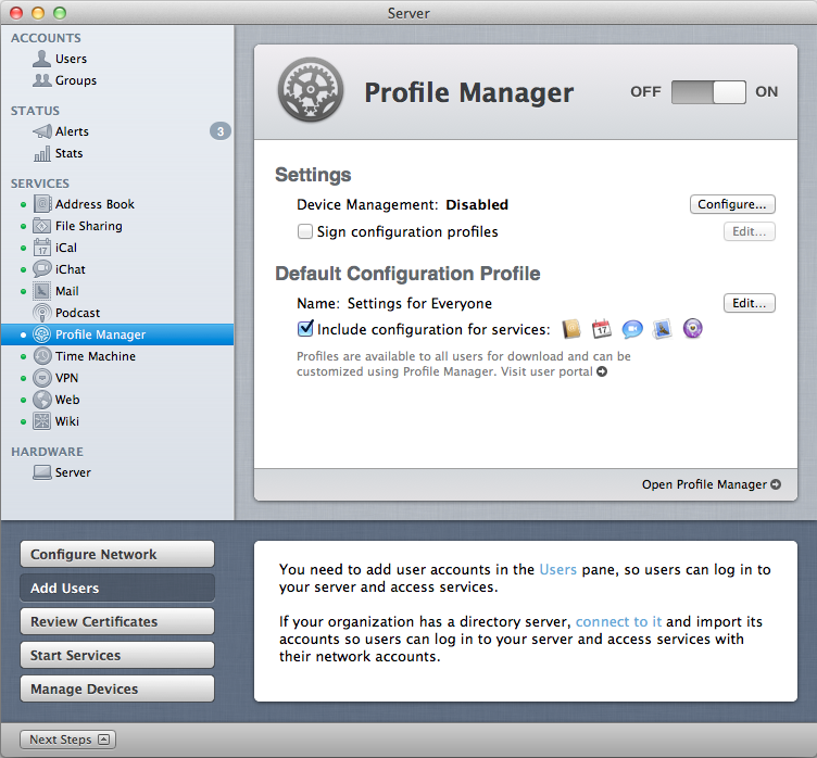 Profile Manager: Managing Lion and iOS - In-Depth with Mac