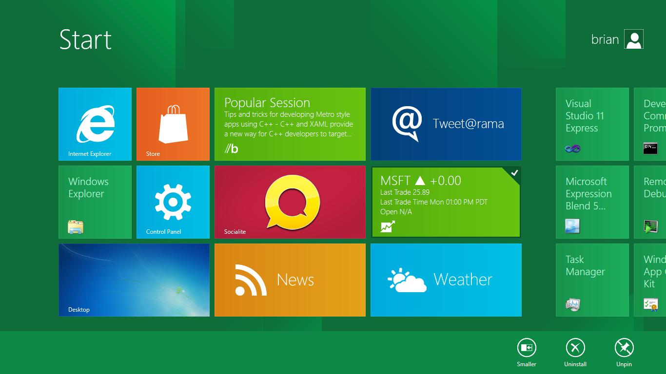 Microsoft BUILD: Windows 8, A Pre-Beta Preview