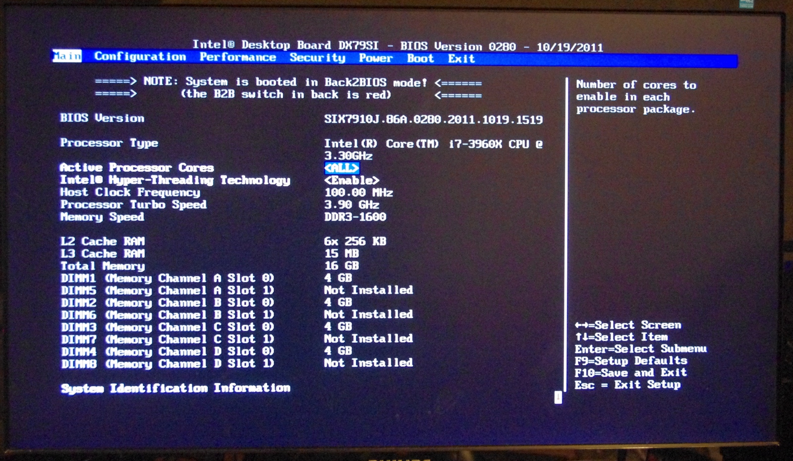 Intel DX79SI - BIOS and Overclocking - Intel DX79SI Review: The