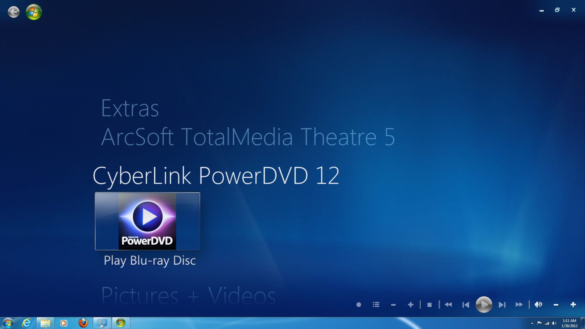 Setup And User Interface Cyberlink Powerdvd 12