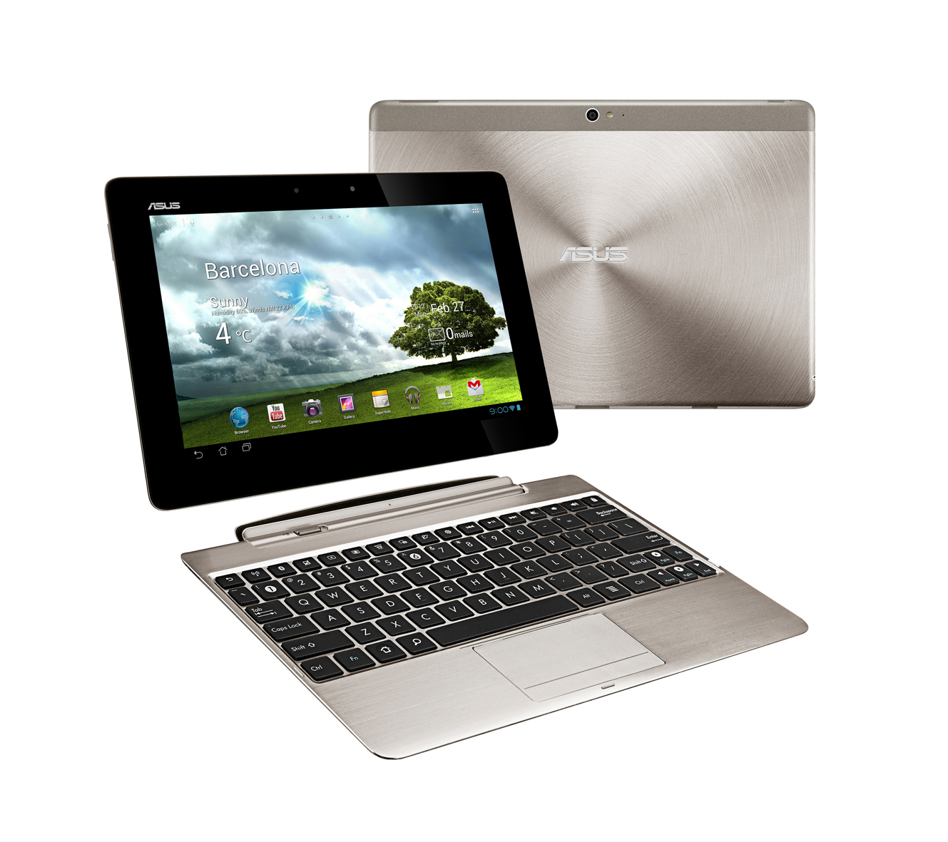 The TF Pad Infinity is also available with an optional mobile dock ...