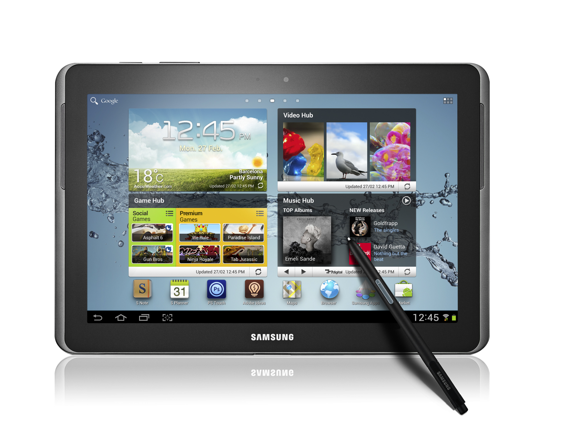 samsung galaxy note 10 1 revealed at mwc. Black Bedroom Furniture Sets. Home Design Ideas