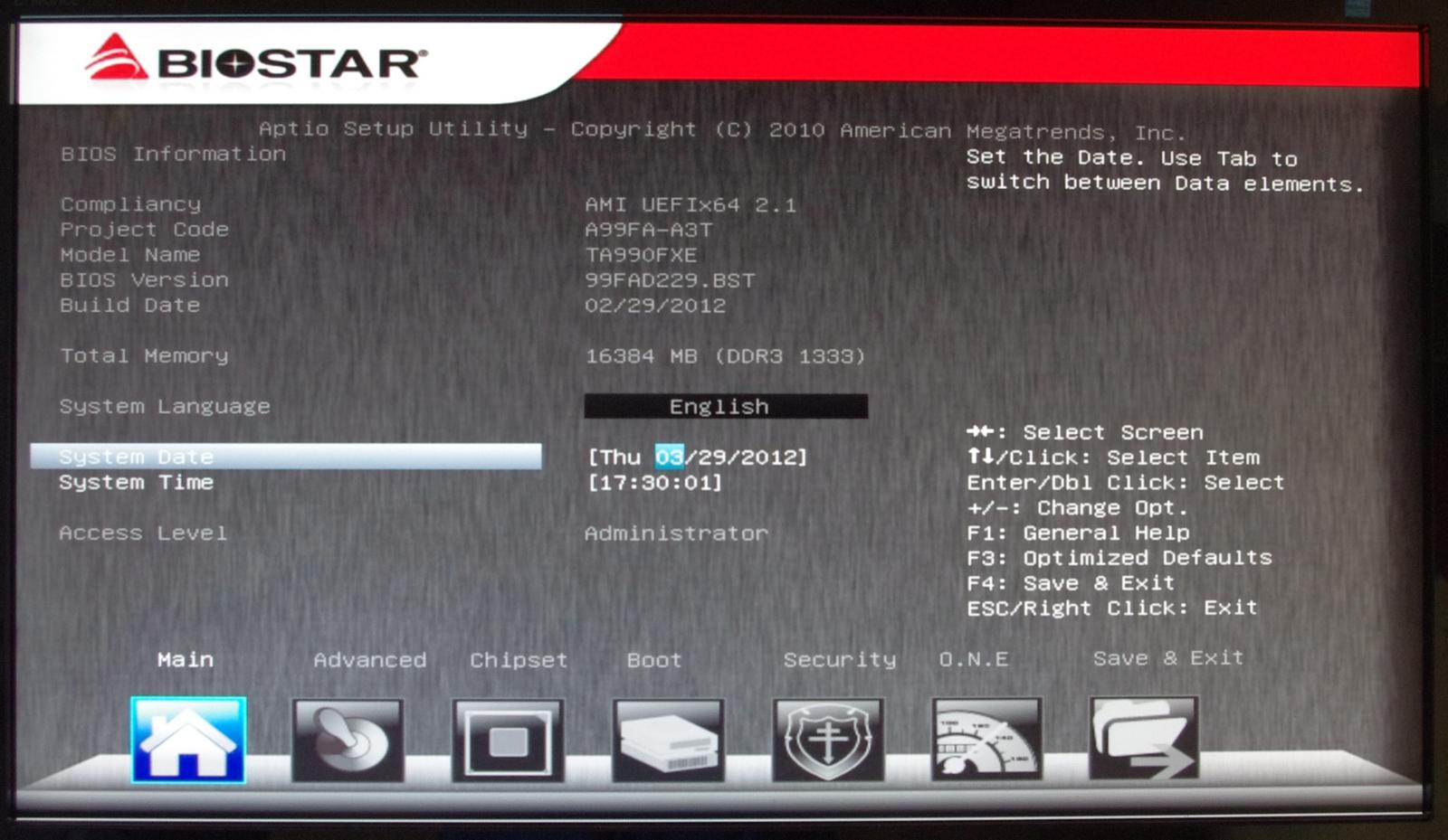 Biostar TA990FXE – BIOS and Overclocking - 990FX Motherboard