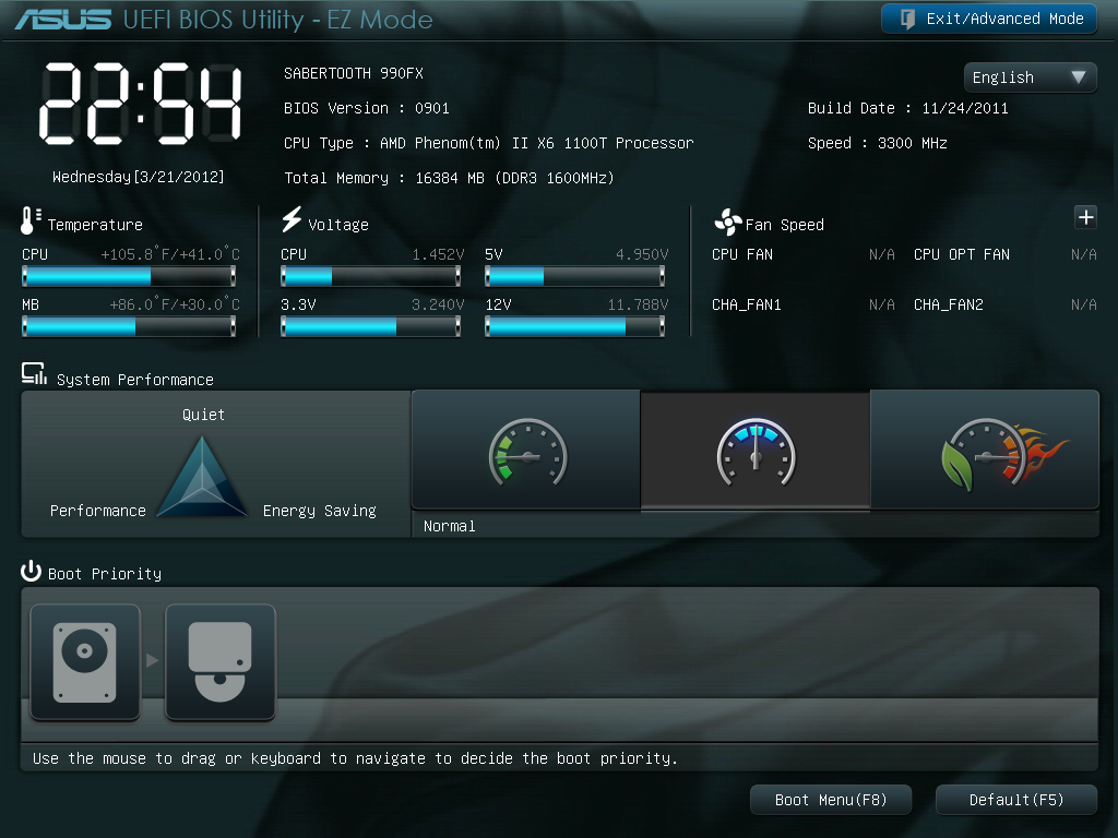 ASUS Sabertooth 990FX – BIOS and Overclocking - 990FX
