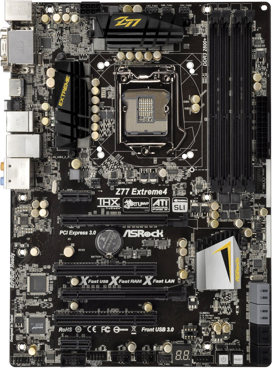 ASRock Z77 Extreme4 - Intel Z77 Panther Point Chipset and
