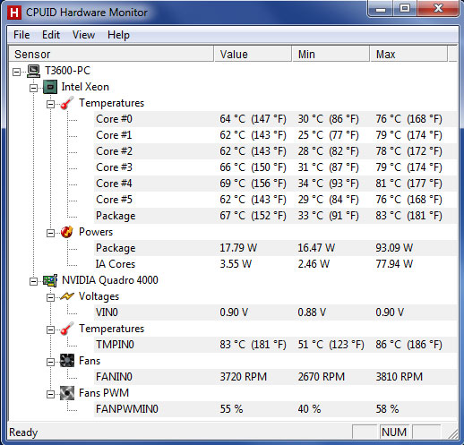 Heat, Noise, and Power Consumption - Dell Precision T3600
