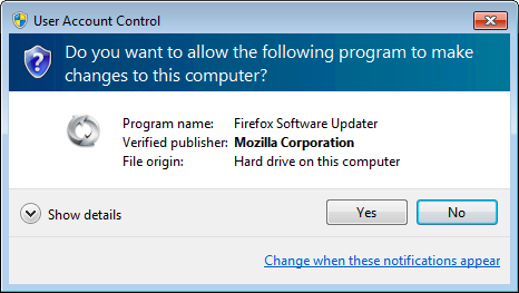 uac Firefox 12 Released with Updated Updater