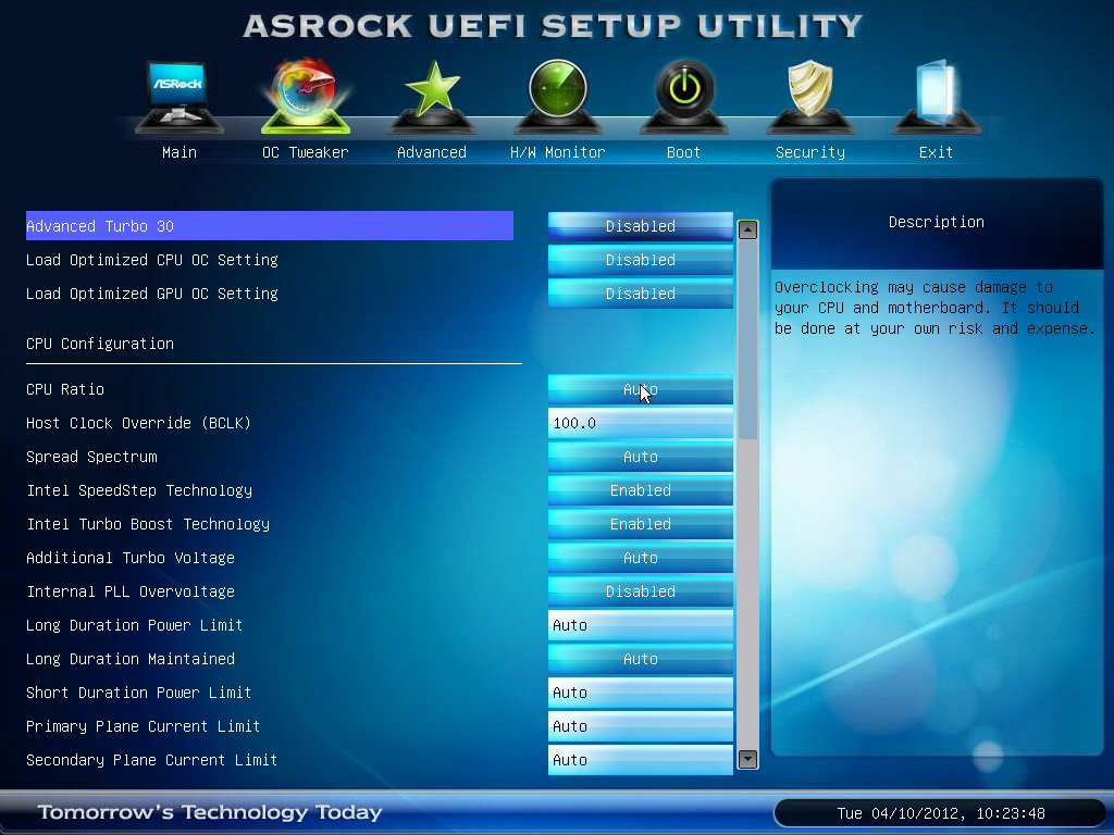 ASRock Z77 Extreme4 - BIOS and Software - Intel Z77