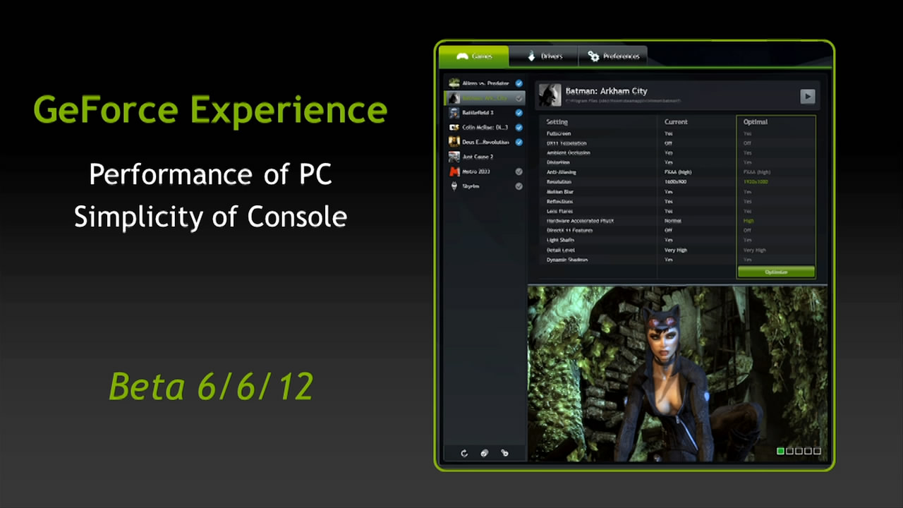 GeForce Experience & The Test - NVIDIA GeForce GTX 690