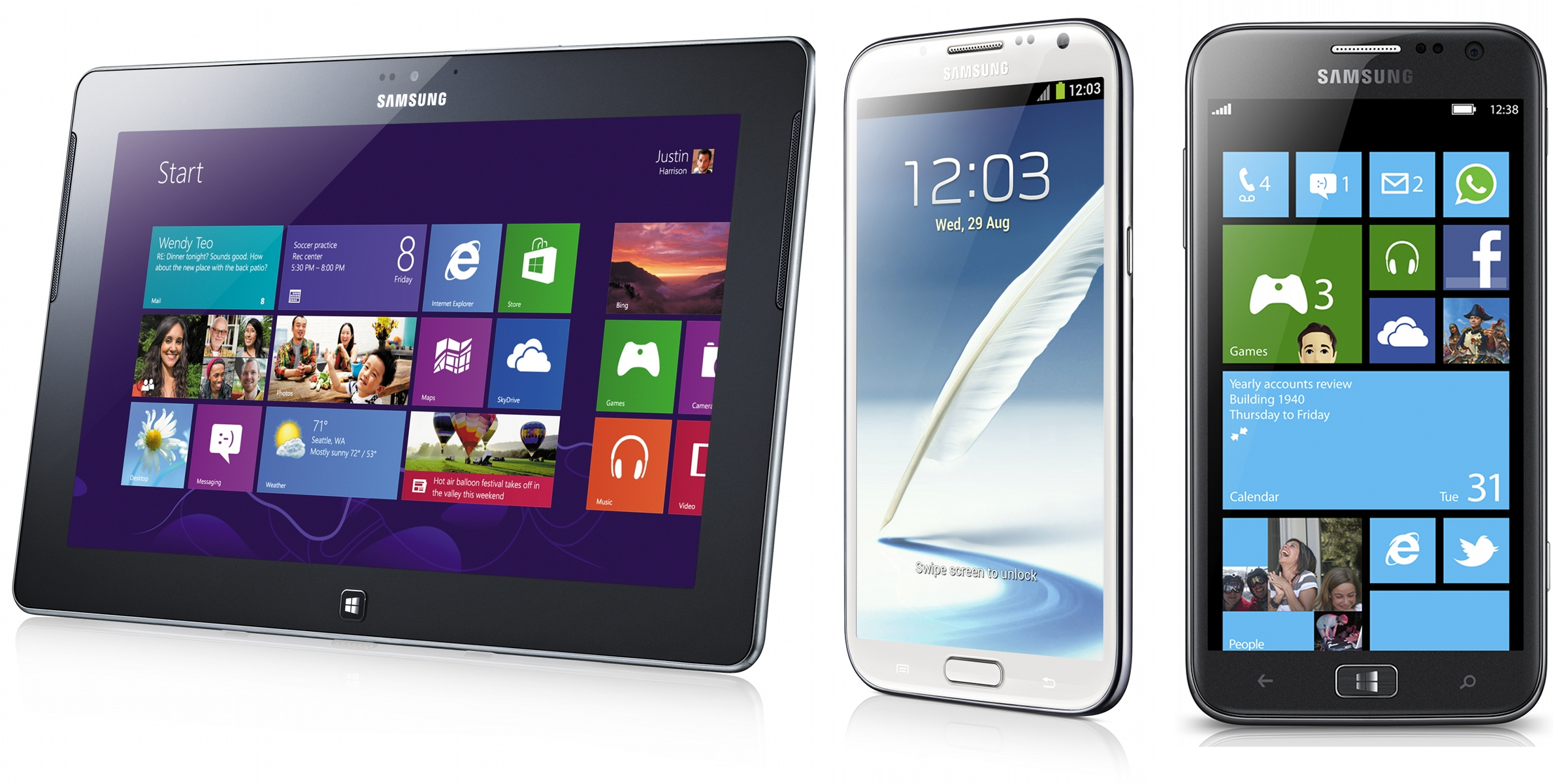 Samsung ativ line outed at ifa windows 8 rt and phone 8 for Windows phone
