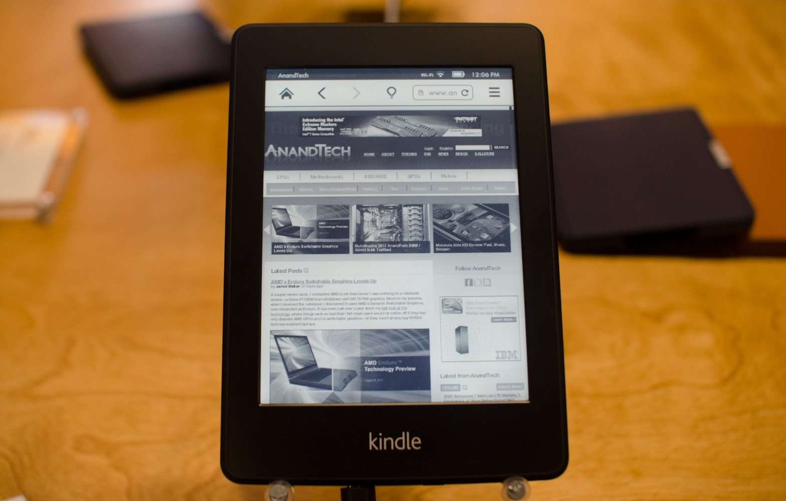 Kindle Vs Sony Reader: Kindle Paperwhite: A Direct Competitor To The Nook Touch
