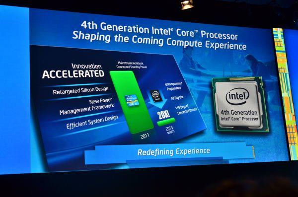인텔 코어 프로세스의 칩과 그에 대한 설명이 들어간 사진이다.