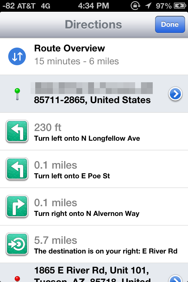 Maps Turn by Turn Navigation and Listings The iOS 6 Review – Turn by Turn Maps