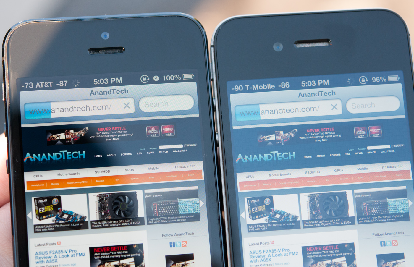 Display: 16:9, In-Cell Touch, sRGB Coverage - The iPhone 5 Review