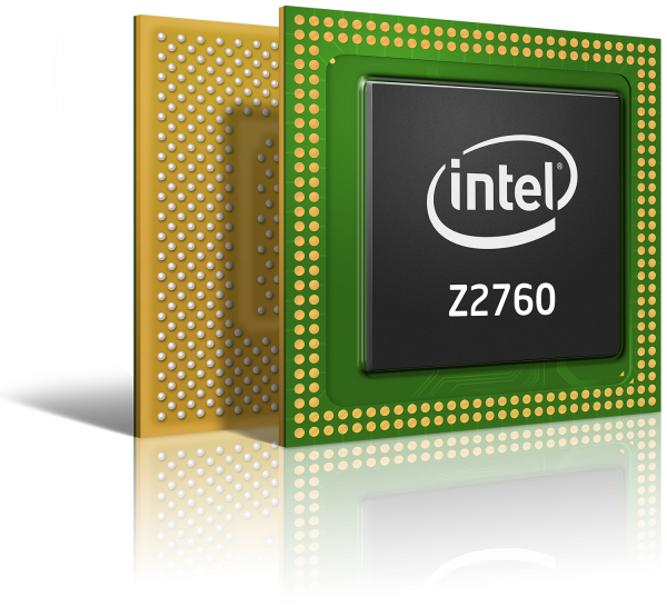Atom Z2760 chip 1 575px Intel Details Atom Z2760: Clovertrail for Windows 8 Tablets