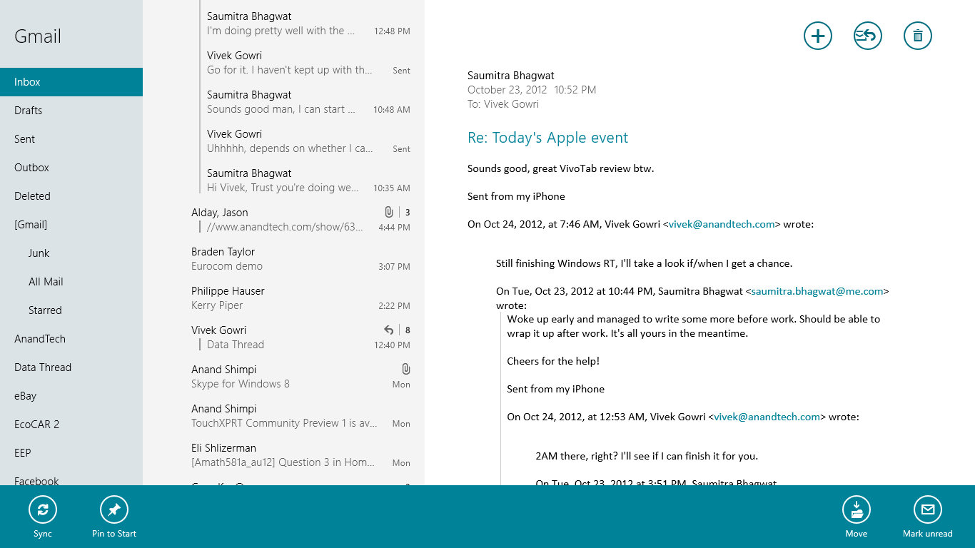Mail calendar messaging and bing the windows rt review